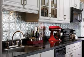 kitchen peel and stick metal tiles backsplash for kitchen sheet