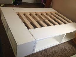 Make Your Own Platform Bed Frame Bedroom Diy Platform Bed With Storage Storage Diy Platform With