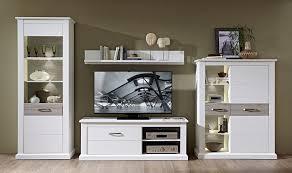 Wohnzimmerm El Pinie Stella Trading Tv Wohnlösung Led Beleuchtung Pinie Hell Landhaus