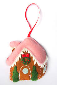 felt gingerbread house ornament fun felt ideas pinterest