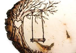 tree swing country design wood slice rustic theme by jkartshop