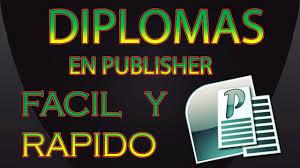 diplomas de primaria descargar diplomas de primaria tutorial de como crear diplomas en publisher youtube