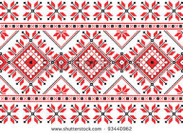 ukraine pattern vector embroidered good like handmade cross stitch ethnic ukraine pattern