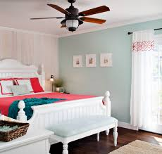 coral bedspread bedroom tropical with beige bed beige panel wall