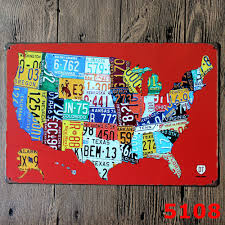 Metal Signs Home Decor Online Shop Usa Map Vintage Home Decor Tin Sign Coffee Shop Wall