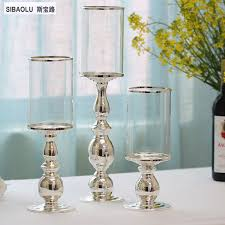 Hurricane Candle Holders Hurricane Candleholders Silver With Clear Glass Lshade Single