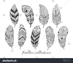 coloring pages of indian feathers native american indian feathers black white stock v on indian