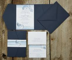 pocket wedding invitations oyster shell pocket wedding invitation el s cards