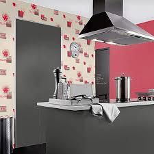 papier peint cuisine vinyle lessivable tea décor discount