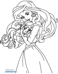 100 disney princess ariel and eric coloring pages
