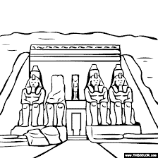 temple coloring page abu simbel temple egypt coloring page mystery of history 1