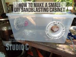 How To Make A Small Cabinet Make A Small Sandblasting Cabinet For The Air Eraser U2013 Designs By