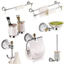 Silver Bathroom Accessories Sets Brass U0026silver Polished Bathroom Accessories Sets Diamond U0026crystal