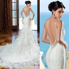 backless lace wedding dresses new backless lace mermaid wedding dress bridal gown custom