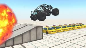 monster truck crash videos youtube beamng drive crashes monster truck destruction youtube