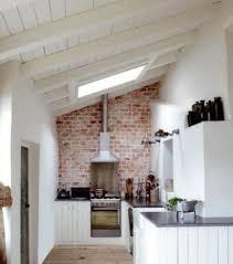attic kitchen ideas rustic brick backsplash for attic kitchen ideas and ceiling