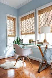 Pottery Barn In Baltimore Jet City Blinds With Transitional Home Office And Area Rugs Bamboo