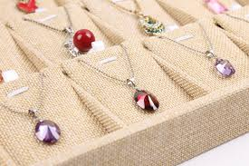 necklace earring display box images Linen pendant tray linen necklace tray linen pendant holder jpg