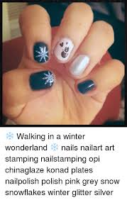 Nail Art Meme - 妆 walking in a winter wonderland nails nailart art