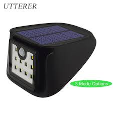Porch Light Motion Sensor Adapter by Outdoor 3 Mode 10led Solar Powered Light Bulb Pir Motion Sensor