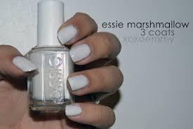 essie marshmallow nail polish swatch u0026 review xoxo emmy