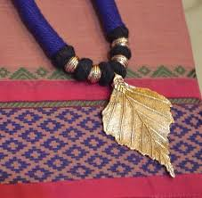 indian metal necklace images Silk dori necklace with pendent indian traditional jewelry at rs jpg