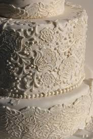 white lace wedding cake once wed