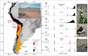 Atacama Desert Map Evolutionary Lag Times And Recent Origin Of The Biota Of An