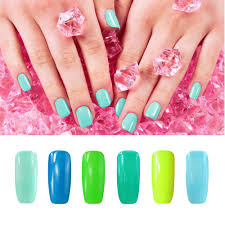 wholesale smiling angel blue green gel nail polish for french