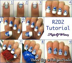 star wars r2d2 nail art tutorial step by step how to nail art
