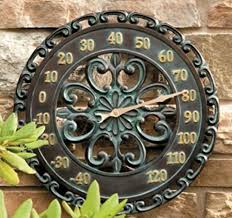 14 u2033 medallion outdoor thermometer wall hanging outside patio porch