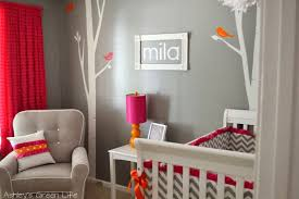 Pink And Grey Nursery Decor S Green Baby Mila S Grey Pink Orange Nursery Reveal