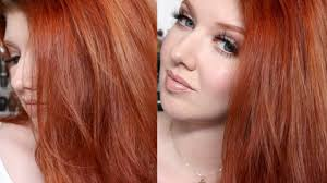 best drugstore hair color 2015 hair color tutorial my copper red shade challenge youtube