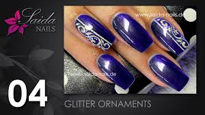 nail glitter ornaments nailart leicht gemalt saida nails