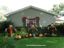Garden Halloween Decorations Fall Yard Decoration Ideas The Seasonal Home Fall Decor