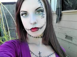 halloween makeup tutorial sally halloween make up