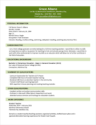 Best Word Template For Resume by Curriculum Vitae Sample Rusume Resume For Call Centre Job