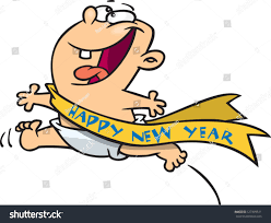 new year sash vector illustration new year baby stock vector 127399511