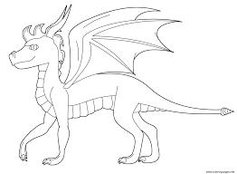 spyro dragon coloring pages printable