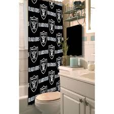 men bathroom ideas nfl oakland raiders decorative bath collection shower curtain