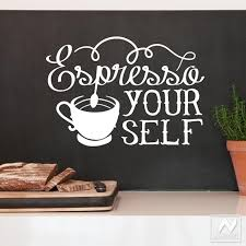 Espresso Your Self Vinyl Coffee Quote Saying Graphic Wall Decal
