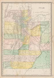 map usa utah and antique prints and maps usa utah map hardesty 1883