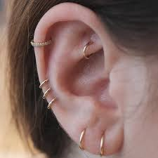 second earrings nyc piercing trends cool earring combinations photos