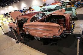peach car 2016 las vegas super show majestics peach 1958 chevy impala lowrider