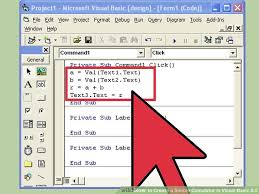tutorial visual basic excel bahasa indonesia how to create a simple calculator in visual basic 6 0 15 steps