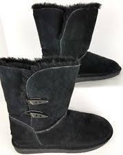 womens black winter boots size 9 bearpaw abigail boots ebay