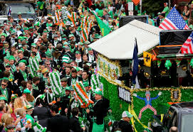parades parties flying cabbages celebrate st pat u0027s in new