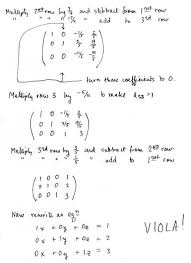 matrices and simultaneous linear equations