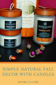 simple natural fall decor with candles nature moms blog nature