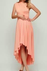 salmon high low infinity dress bridesmaid dress hl 40 49 50